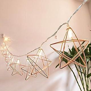 Metall Lichterkette, EONANT 3M 20LED Fairy Lights Rose Gold Metall Laterne Lichterketten Batteriebetriebene 2 Modi Für Weihnachten Home Party Dekoration