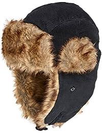 Black Cord Trapper Hat