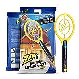 ZAP IT! Mini Bug Zapper - Rechargeable Mosquito, Tapette/Killer et Bug Zapper Raquette - 4 000 Volt Chargement USB, Ultra Lumineux Lumière LED pour Zap dans Le Noir