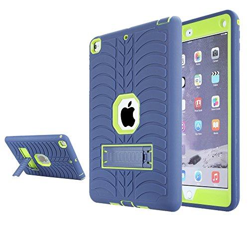 Schutzhülle für iPad 2017 9,7 Zoll / 24,6 cm, Nokea [Reifen] 3 in 1, strapazierfähiges Silikon und Kunststoff, robuste Schutzhülle mit integriertem Ständer für Apple iPad 9,7 Zoll 2017 Version (Ipad Minisuit)