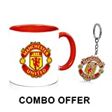 #2: Manchester United Coffee Mug Plus Manchester Metal Keychain Combo Offer Great Gift Option