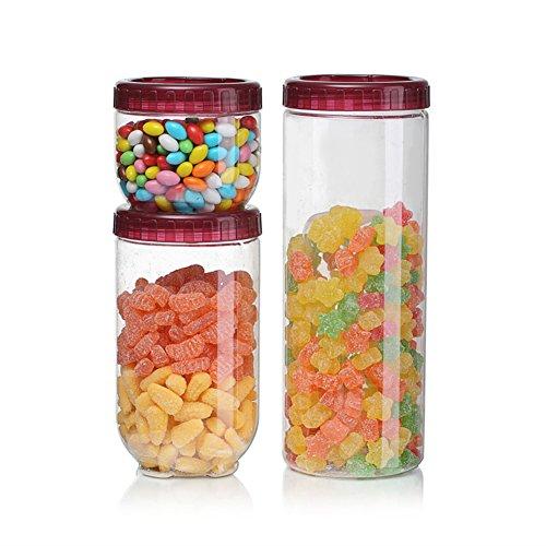 Transparenter kunststoff lagertank,Küche-lebensmittel-container,Abgedeckt,Nudel-jar, Spaghetti-glas,Candy jar,Lebensmittel lagerbehälter-B