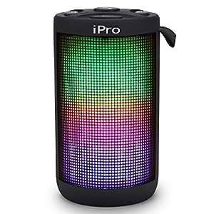 iPro BLING Sp-210 Portable Splashproof Bluetooth Mobile/Tablet Speaker with Dynamic Led & HD Sound