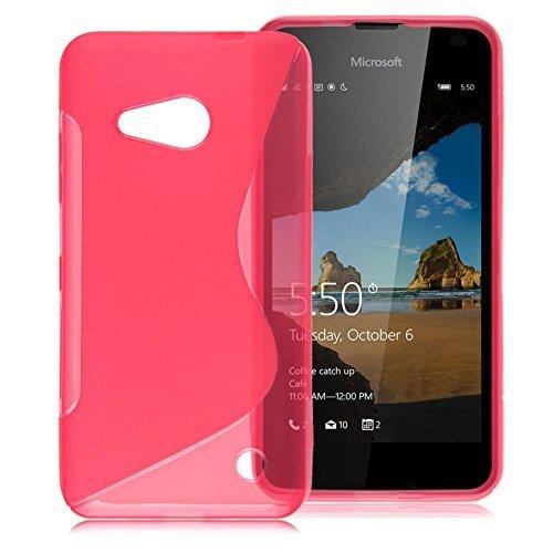 connect-zone-microsoft-lumia-650-tpu-s-line-silikon-gel-hulle-mit-displayschutz-und-poliertuch-pink-
