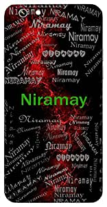 Niramay (Pure, Flawless) Name & Sign Printed All over customize & Personalized!! Protective back cover for your Smart Phone : Samsung Galaxy S6 Edge