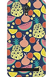 AMEZ designer printed 3d premium high quality back case cover for Asus Zenfone C (fruits doodle)