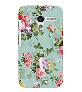 FUSON Classic Floral Decoration Isolated 3D Hard Polycarbonate Designer Back Case Cover for Motorola Moto X :: Motorola Moto X (1st Gen) XT1052 XT1058 XT1053 XT1056 XT1060 XT1055