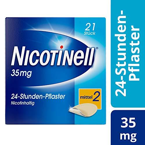 Nicotinell 35 mg / 24-Stunden- Nikotinpflaster, 21 St.: Pflasterstärke Mittel (2) – Das Nicotinell Nikotinpflaster mit der Steady-Flow Technologie hilft, das Rauchverlangen für 24 Stunden zu lindern.