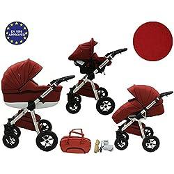Quero, 3en 1sistema de viaje con material de lino, asiento de coche, cochecito para cochecito de bebé y accesorios (nº 8)