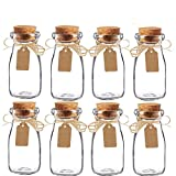 Awtlife - Lot de 15 pots à dragée de lait en verre avec couvercles en liège pour une fête de mariage - Vintage