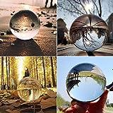 TianranRT Klar Glas Kristall Kugel Heilung Kugel Fotografie Requisiten Lensball Dekor Geschenk (Mehrfarbig,50MM)