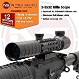 In Your Sights 3-9x32 Rifle scope with additional tactical rails