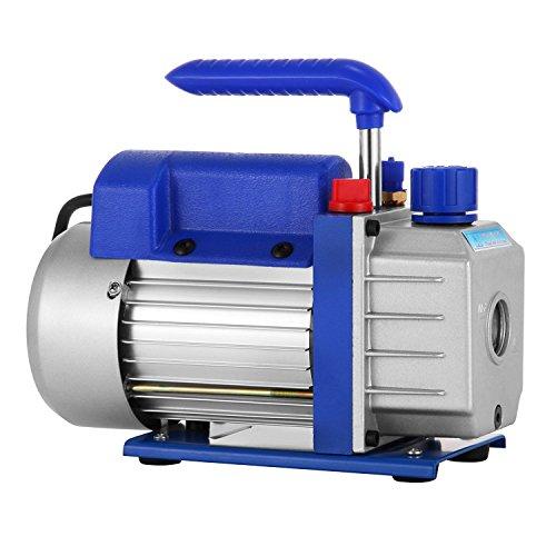 BananaB 3CFM 1/3HP Vakuumpumpe Einstufige Vacuum Pump HVAC Klimaanlage 85 L/min Kältemittel Drehschieber Vakuumpumpe A/C Vakuum Evakuierungspumpe (Cfm-motor 50)