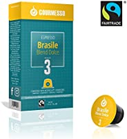 Gourmesso Brasile Blend Dolce - 100 Nespresso kompatible Kaffeekapseln - Fairtrade
