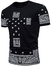 Das Cashew Herren Druck Hip Hop Kurzschluss Hülsen T-Shirt der Heißen Sommer Männer GreatestPAK
