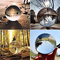 ‏‪Clear Glass Crystal Ball Healing Sphere Photography Props Lensball Decor Gift‬‏