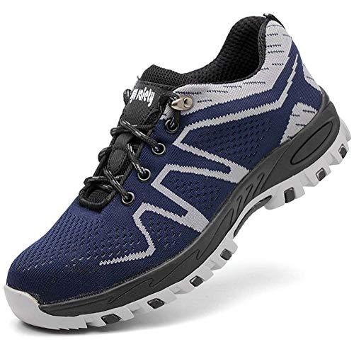 Uirend Schuhe Arbeits Berufsschuhe Industrie Handwerk Herren - Arbeitsschuhe Stahlkappe Sicherheitsschuhe Leicht Sportlich und Atmungsaktiv Schutzschuhe Turnschuhe