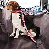 T-Day Autositz Gürtel Auto Sicherheitsgurt 2 STÜCKE Einstellbar Hundegurt Hundegeschirr Haustier Auto Fahrzeug Sicherheitsgurt Haustier Sicherheitsleine Führt Hunde/Katzen Einstellbar Von 40 bis 74