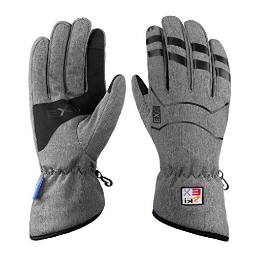 MCTi Winter Warm Arbeits Handschuhe Fahrrad Radfahren Touchscreen Thinsulate mit Wasserdicht TPU Herren Damen - 9