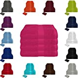 Handtuch Sets Frottier 500g/m2 in vielen Größen und Farben, sowie 10er Sparpack, 100% Baumwolle, 4er Pack Handtücher Magenta