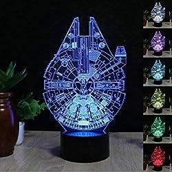 Lámparas de iluminación USB 3D Millenium Falcon