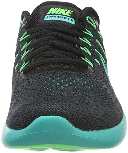 Nike Herren Lunarglide 8 Laufschuhe Mehrfarbig (Black/Multi-Color-Rio Teal-clear Jade)