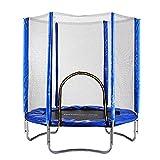 Carsge Fitness Trampolin Outdoor mit Sicherheitsnetz Gartentrampolin Durchmesser 182 cm Höhe 216 cm Trampolin Set mit Schutz Indoor