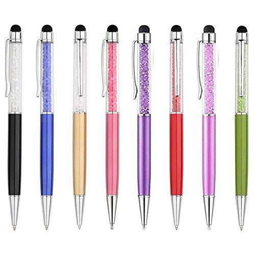 10 Stück Crystal Kugelschreiber mit Swarovski Kristall - Elemente 10 gratis Nachfüllen gefüllt
