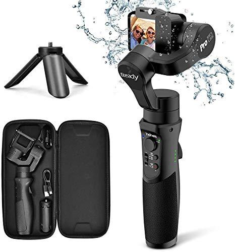 Stabilisateur Caméra Sport - Stabilisateur Caméra Action avec 3 Axe Gimbal Portable, Support Max 150g, Résistant...