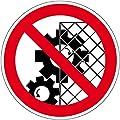 Verbotszeichen - Schutzvorrichtung entfernen verboten - Selbstklebende Folie