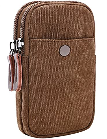 CUKKE Canvas Universal Multipurpose Capacity Oversize EDC Tasche Tactical Pouches Smartphone Holster Security Pack Carry Accessory Kit Pouch Belt Loops Waist Tasche Gadget Money Pocket