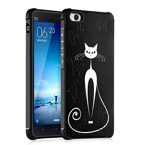Happy-L Hülle Für Xiaomi Mi 4C / Mi4C, Niedlichen Cartoon Katze Schädel Panda Liebe Design Ultra Slim TPU Schutzhülle Stoßfest Weiche Zurück Fall (Farbe : 3)