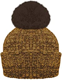 0039ad08dfd RockJock Ladies Marl Chunky Knit Bobble Hat with Fleece Thinsulate Lining