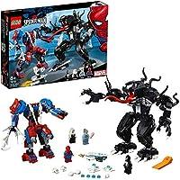 LEGO 76115 Super Heroes Spider Mech vs. Venom Fight Building Set, Marvel Toy Vehicles for Kids