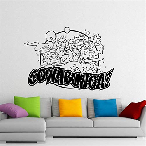 qwerdf Ninja Turtles Wall Decal TMNT Vinyl Sticker American Comic Book Wall Graphics Home Home Children Room Wall Sticker (Ninja Room Turtle Decor)