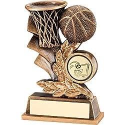 """Baloncesto diseño trofeo - placa de la hoja, , 4"""""""