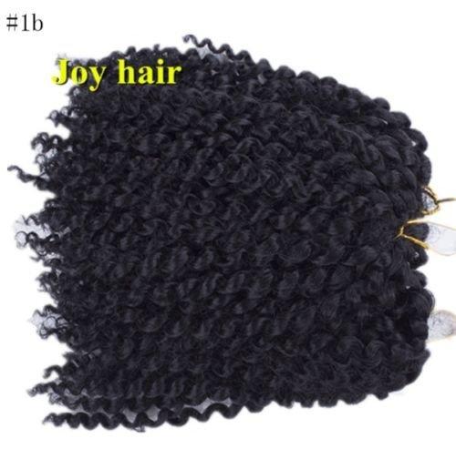 schwarz, 3 Piece Set. Slim Jamaican Bounce Curl Wand, Jumpy Curly CROCHET Hair Bnc-twist