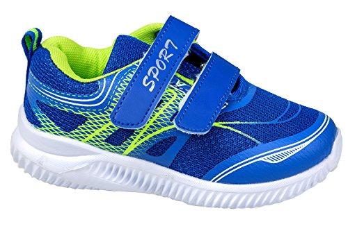 gibra , Chaussures spécial sport en salle pour fille blau/neongrün