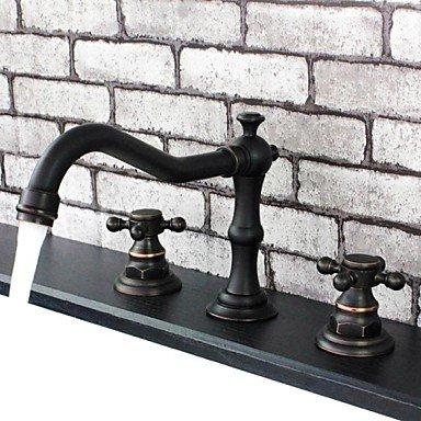 style-vintage-finition-bronze-frott-lhuile-poignes-doubles-trois-trous-en-laiton-lavabo-robinet