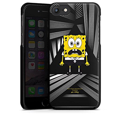 Apple iPhone X Silikon Hülle Case Schutzhülle Spongebob Fanartikel Merchandise Spongebob Schwammkopf Hard Case schwarz