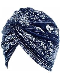 ASHOP Sombrero de Mujer, La mujer cancer chemo sombrero beanie bufanda floral Wrap Cap cabeza de turbante (F)