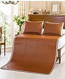 WENZHE Matratzen Strohmatte Teppiche Rattan Sommer Schlafmatten Haushalt Atmungsaktiv Faltbar Matten (Farbe : Braun, größe : 1.2 * 2m)