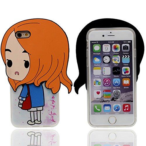 iPhone 6S Coque Case Anti choc Svelte & Lumiere - Noir, Flexible TPU Gel Étui Apple iPhone 6 4.7 Pouce, Origine Mignonne Conception 3D Ours Apparence Color-2