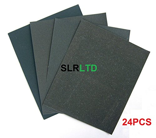 24-x-waterproof-wet-dry-sandpaper-emery-cloth-fine-medium-course-80-120-180-400-free-delivery