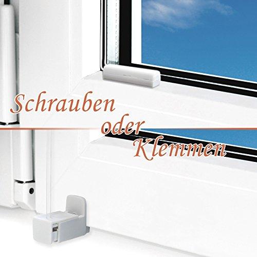 Plissee Rollo / Jalousie | Sichtschutz ohne Bohren, Klemmfix | Faltstore in moderner Crushed Optik | Türkis | Größe wählbar (100 cm Länge x 80 cm Breite) - 5