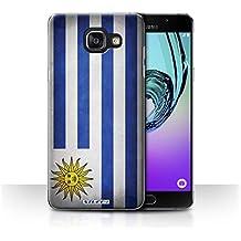 Carcasa/Funda STUFF4 dura para el Samsung Galaxy A5 (2016) / serie: Banderas - Uruguay/uruguayo