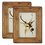 Cadre en bois pour photos, Verre, Burlywood, 5x7 2pack