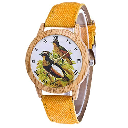 Orologio da polso analogico al quarzo di Lyperkin, lussuoso polso analogico di moda con cinturino in pelle e quadrante dilatato per donne e uomini N-19