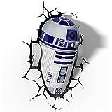 La guerra de las Galaxias R2-D2 3D LED lámpara de pared