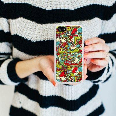 Apple iPhone 4 Housse Étui Silicone Coque Protection Monstre Motif Motif Housse en silicone blanc